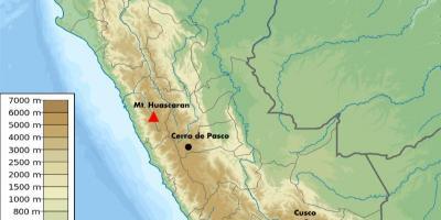 Peru Mape Nadmorska Vyska Nadmorska Vyska Mape Peru Jizni